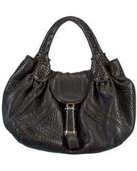 Fendi Leather Spy Bag - Black