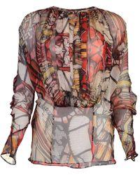Alexander McQueen Silk Sheer Blouse - Multicolour
