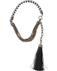 Lanvin - Vita Short Tassle Necklace - Lyst