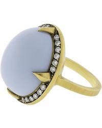 Sylva & Cie - Brazilian Blue Opal Ring - Lyst
