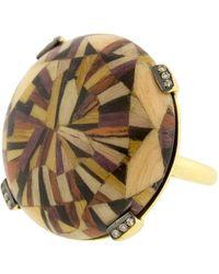 Silvia Furmanovich Pink Marquerty Brown Diamond Ring - Metallic