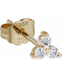 Maria Tash Single 18k Yellow Gold Diamond Trinity Earstud - Metallic