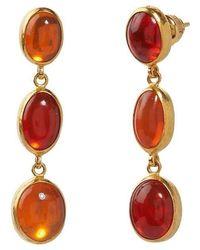 Gurhan One-of-a-kind Opal Rune Drop Earrings - Red