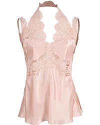 Stella McCartney Kimberly Silk Lace Top - Pink