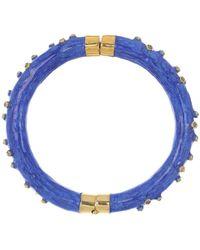 Boaz Kashi Blue Enamel Diamond Bracelet