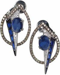 Kavant & Sharart Geoart Oto Blue Sapphire Earrings