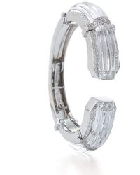 David Webb White Night Rock Crystal And Diamond Cuff - Multicolour