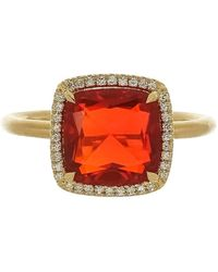 Irene Neuwirth Fire Opal And Diamond Ring - Multicolour
