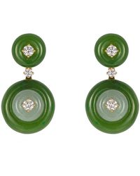 Fernando Jorge Signal Small Jade Earrings - Green