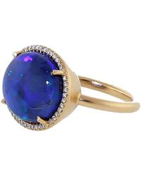 Irene Neuwirth - Opal Diamond Pave Ring - Lyst