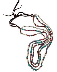 Royal Nomad Jewelry - Three Strand Tanzanite And Gold Bead Necklace - Lyst