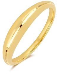 EF Collection Gold Dome Ring - Metallic