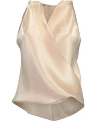 Peter Cohen Peach Sleeveless Crossover High Tide Top - Natural