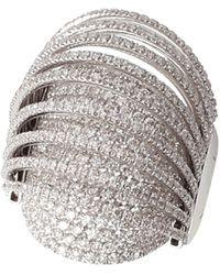 Mattia Cielo Pavone Collections Small Ring With Diamonds - Multicolour