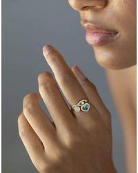 Jennifer Meyer Mini Diamond And Opal Heart Ring - Metallic