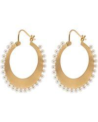 Irene Neuwirth - Small Akoya Pearl Hoop Earrings - Lyst