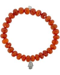 Sydney Evan Hamsa Red Bracelet - Multicolour