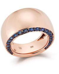 WALTERS FAITH Lytton Bombe Sapphire Edge Ring - Multicolour