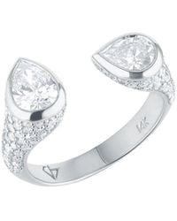 Carbon & Hyde Mini Twin Ring - White Gold - Metallic