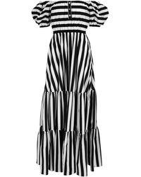 Caroline Constas Bardot Maxi Dress - Black