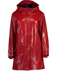 Burberry Horseferry Print Coated Jersey Jacket - Red