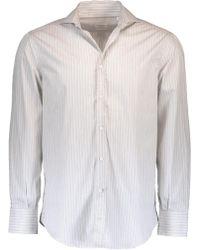 Brunello Cucinelli - Twill Stripe Shirt - Lyst