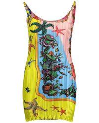 Versace Trésor De La Mer Print Dress - Yellow