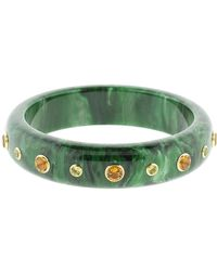 Mark Davis Green And Citrine Bakelite Bangle
