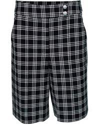 Veronica Beard Black And White Saira Shorts