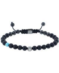 Shamballa Jewels Onyx And Turquoise Bracelet - Multicolor