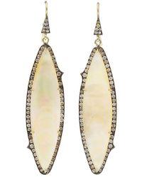 Sylva & Cie Mother-of-pearl Earrings - Metallic