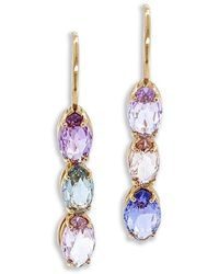Bayco Briolette Natural Sapphire Earrings - Pink