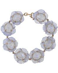 Irene Neuwirth Carved Chalcedony Flower Bracelet - Multicolour