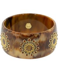 Mark Davis Citrine And Smoky Quartz Brown Bakelite Bangle - Multicolour