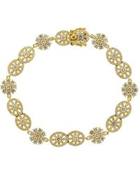 Buddha Mama Diamond Mandala Station Bracelet - Metallic