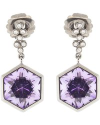Katherine Jetter - Hexagon Amethyst Earrings - Lyst
