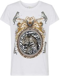 Camilla Gates Of Glory Slim Fit Round Neck T-shirt - White