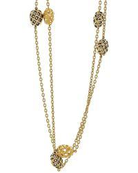 Yossi Harari Roxanne Rattan Wrap Diamond Necklace - Metallic