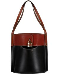 Chloé Aby Leather Bucket Bag - Black