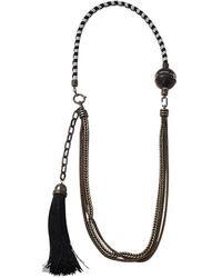 Lanvin Vita Long Tassle Necklace - Black