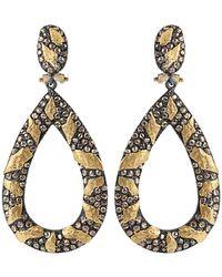 Yossi Harari - Libra Cognac-diamond Drop Earrings - Lyst
