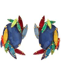 Erickson Beamon - Splash Button Clip Earrings - Lyst