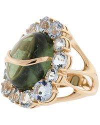 Federica Rettore - Waterfall Green Tourmaline And Aquamarine Ring - Lyst