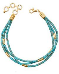 Gurhan Jet Set Turquoise Triple Strand Bracelet - Multicolour