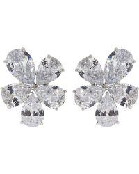 Fantasia Jewelry - Cubic Zirconia Cluster Earrings - Lyst