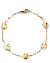 Alison Lou Happy And Sad Face Diamond Bracelet - Metallic