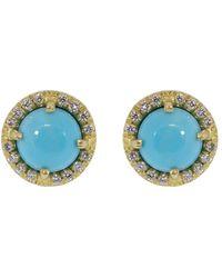 Irene Neuwirth Kingman Turquoise And Diamond Studs - Multicolour