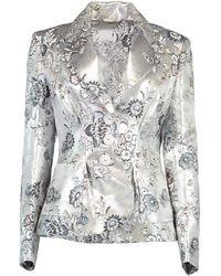 Erdem Ernest Floral Jacquard Jacket - Metallic