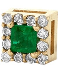 Alison Lou - Emerald Single Stud Earring - Lyst