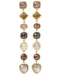 Todd Reed Fancy Diamond Drop Earrings - Multicolour